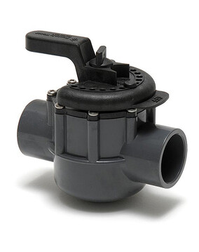 Onga / Pentair 2 Way Valve 40mm - PVC Pool Diverter Valve, Grey/Black