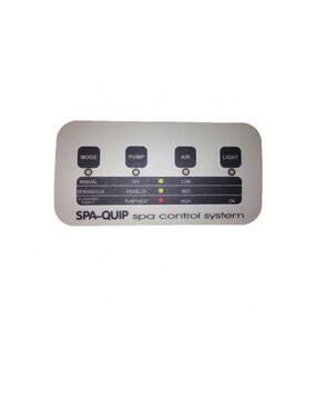 Davey Spa-Quip Pulsar Series 4 Button Overlay for Spa Controller