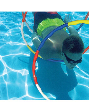 Poolmaster Dolphin Slalom Game - 3x Dive Rings - Swimming Pool Toy