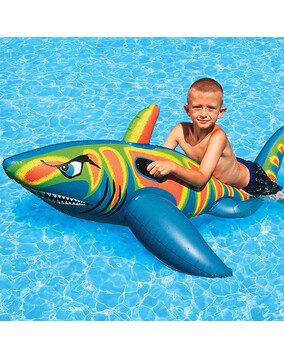 AquaFun Jumbo Shark Ride-On Swimming Pool Toy / Float - 180 cm