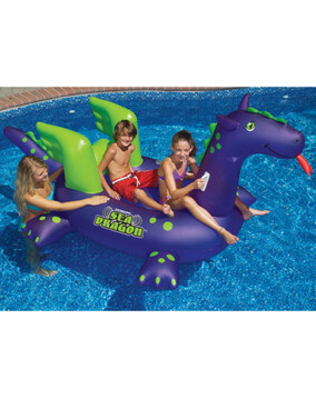 Swimsportz Sea Dragon Large Inflatable Swimming Pool Toy / Float 290cm