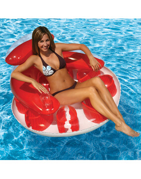 Poolmaster Water Pop Circular Lounger, Swimming Pool Inflatable Bed - 110cm