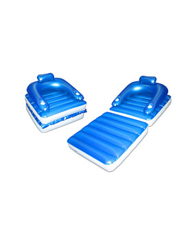 Relax about Floating Luxury Lounge. Swimming Pool Inflatable Air Bed