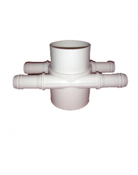 Water Manifold 4 Port Side by Side 50mm (Spa Plumbing Part)