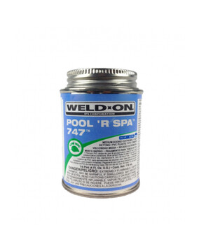 IPS Weld-On 747, 118ml Blue Glue (Spa Plumbing Part)