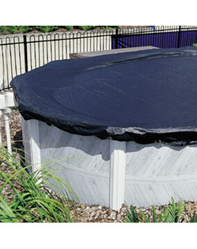 Abgal Leafstop Above Ground Pool Cover for Keyhole-Shaped Pools