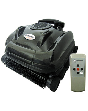 Waterco Admiral ATV-NAV Robotic Pool Cleaner w/Remote & Caddy. Wall, Floor, Waterline, Steps + Scrubber