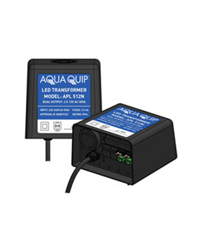 Aquaquip Plug-In 12V x 30VA (2 Outputs) Transformer for LED Pool Lights