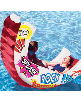 AquaFun Aqua Rocker - Inflatable Pool Air Lounger / Toy / Rocker - 224 x 130cm