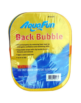 AquaFun Back Bubble Toddler Float - Swimming Pool Float / Toy