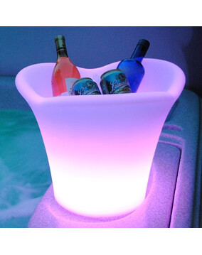 The Napa Ice Bucket Led Light w/Remote. Rechargeable