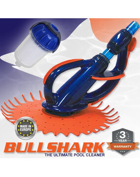 BullShark Pool Cleaner by Onga Europe with Leaf Canister - Above & In Ground - Wall Climber