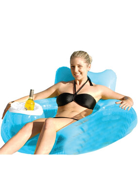 SwimSportz Chill Out Ring Seat - Swimming Pool Chair With Cooler