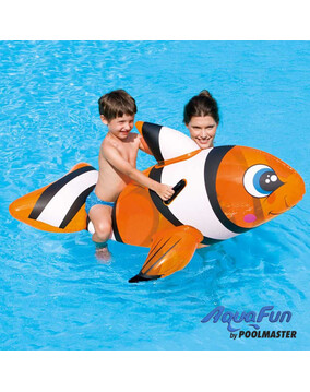 AquaFun Clown Fish Ride On Swimming Pool Toy / Inlfatable
