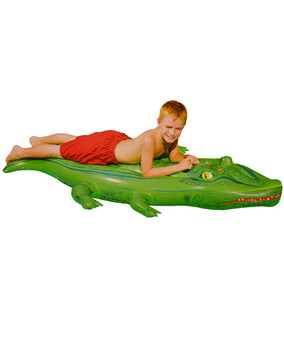 AquaFun Crocodile Ride On Swimming Pool Toy / Inflatable  - 145cm