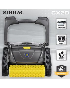 Zodiac CX20 Robotic Pool Cleaner w/ 100 Micron Filter for Fine Dust