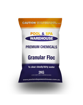 Premium Granular Floc / Clarifying Chemical 2kg - Treats Cloudy Pools - Pool Chemical