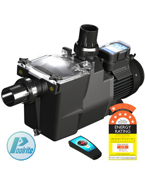 Poolrite SQ/SQI Gemini Energy Efficient ECO Pool Pump. Super Quiet, Remote, 7 Star Rated