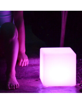 The Cube - Floating Square Led Light w/Remote Rechargeable - Pool Light