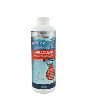 Lo-Chlor  Miraclear Algaecide 1L - Metal Free - Pool Chemical
