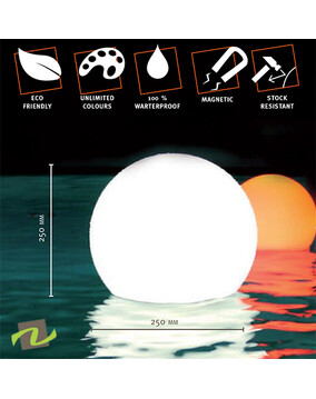 Floating Pool Light / Outdoor Multicolor Cordless Rechargeable LED Pearl Lamp w/Remote (Magic Ball)