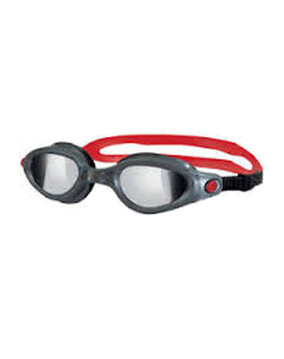 Zoggs Phantom Elite Grey/Red Goggles for Adults