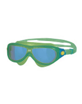 Zoggs Phantom Kids Mask Green Goggles Suitable for Ages 0-6 Yrs