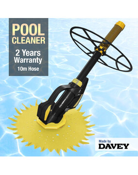 Davey Poolsweepa Suction Pool Cleaner - 2Y Warranty Above & In Ground Wall Climber - Free Extra Diaphragm