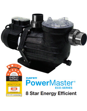 Davey Powermaster ECO Energy Efficient Pool Pump, 8 Star Rated