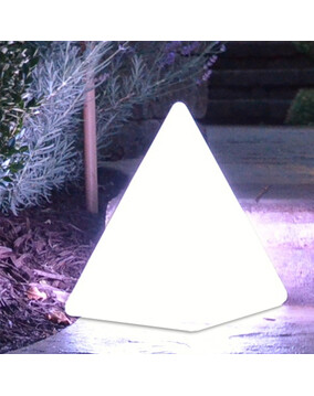 The Cairo - Floating Pyramid LED Light w/Remote. Rechargeable - Pool Light