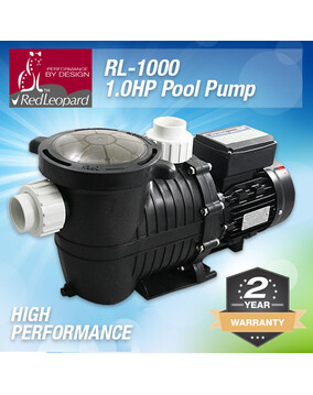 RedLeopard RL1000 1.0hp Pool Pump - High Performance - 2Y Warranty