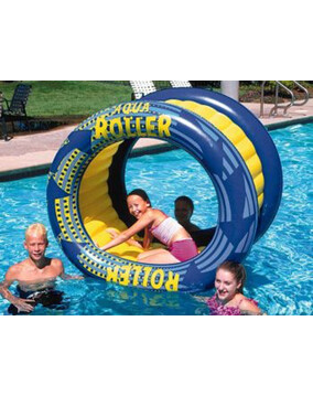 AquaFun Aqua Roller - Inflatable pool air Lounger / Toy / Rocker - 156x 91cm