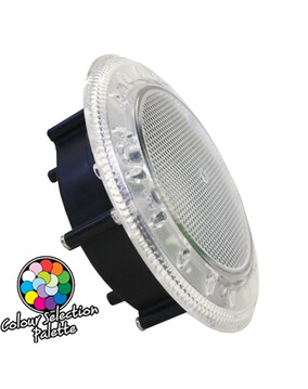 Spa Electrics WN9C/WN950 Multi Plus (Multi-Colour) LED Clear Rim Niche Mount (20m Cable) Pool Light
