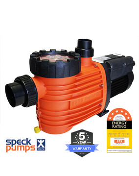 Speck Pro 500 DS Dual Speed, 0.75/2.0HP 0.3/1.5kW Energy Efficient Pool Pump 5Y Warranty 6 Star Rated