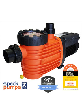 Speck Pro 500 DS Dual Speed, 0.75/2.0HP 0.3/1.5kW Energy Efficient Pool Pump 4Y Warranty 6 Star Rated