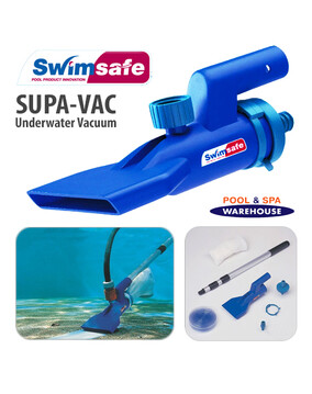 Supa Vac Swimming Pool Spa Pond Fountain Underwater Vacuum Cleaning Kit