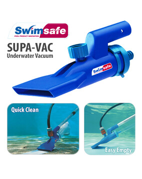 Supa Vac Pool Spa Pond Fountain Underwater Vacuum cleaner & Venturi Pump