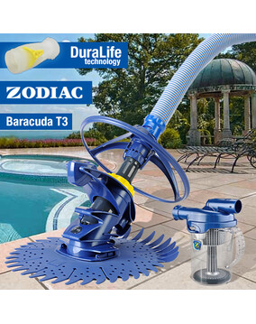 Zodiac T3 Baracuda Pool Cleaner with Cyclonic Leaf Catcher
