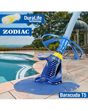 Zodiac T5 Duo Baracuda Pool Cleaner - Above & In Ground - Wall Climber