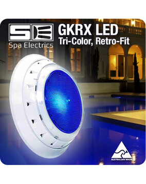 Spa Electrics GKRX / GK7 Tri-Colour LED Pool Light. Retro Fit, Variable Voltage