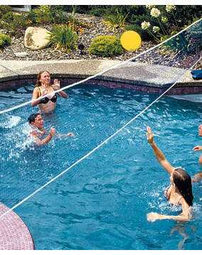 AquaFun Pool Volleyball Game set - Swimming Pool Game / Toy