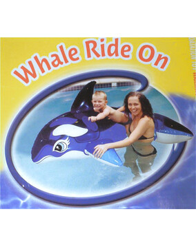 Aquafun Whale Ride On Swimming Pool Toy / Float
