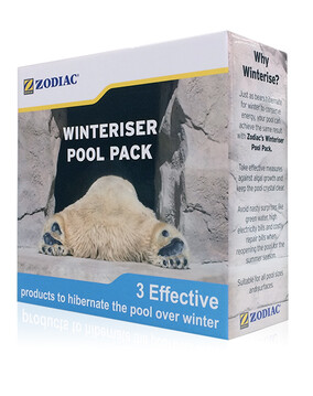 Zodiac Winteriser Pool Pack: 1L Algaecide + 1L Starver + 1L Clarifier - 6 months protection - Pool Chemical